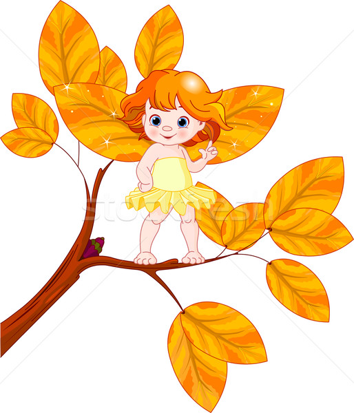 Autumn baby fairy Stock photo © Dazdraperma