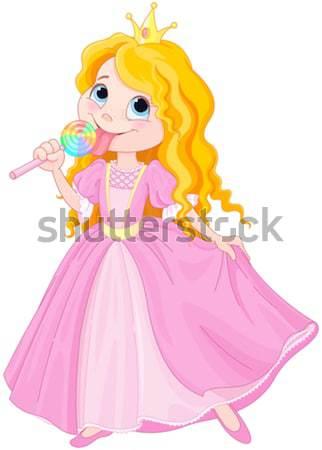 Belo princesa bonitinho criança beleza adolescente Foto stock © Dazdraperma