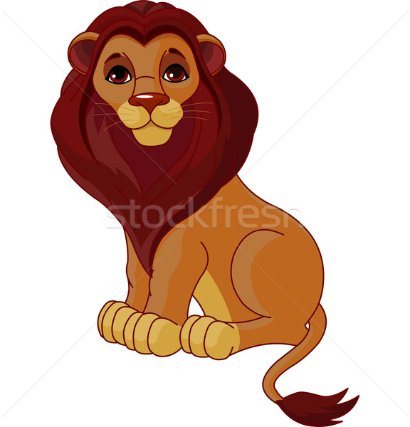 Sitting Lion  Stock photo © Dazdraperma
