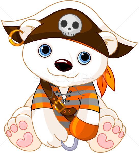 Halloween ijsbeer zoals piraat hand kunst Stockfoto © Dazdraperma