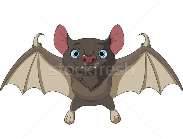 Stock fotó: Halloween · denevér · repülés · illusztráció · aranyos · rajz