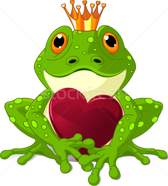 Frog with heart Stock photo © Dazdraperma
