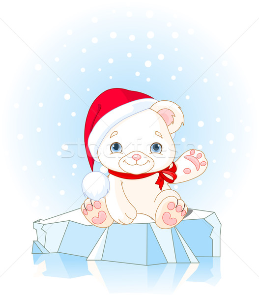 Christmas Polar Bear  Stock photo © Dazdraperma
