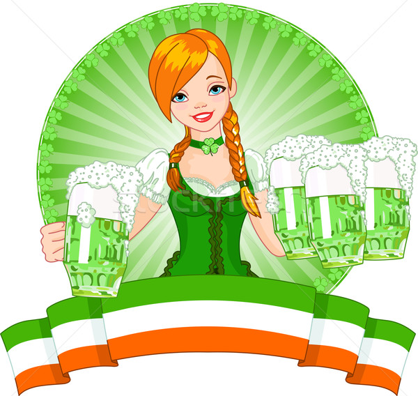 St. Patrick's Day girl Stock photo © Dazdraperma