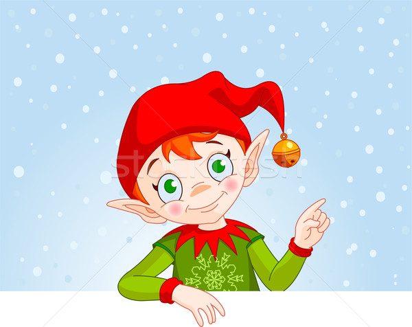 Christmas Elf Invite & Place Card Stock photo © Dazdraperma