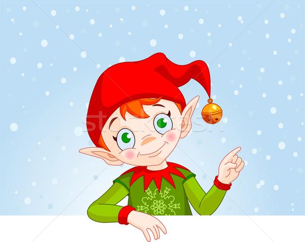 Christmas Elf Invite & Place Card Stock photo © Dazdraperma