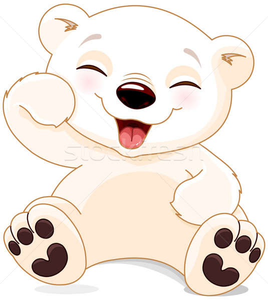 Happy Polar Bear  Stock photo © Dazdraperma
