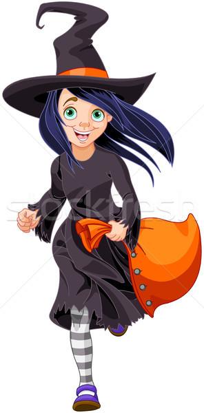 ハロウィン 魔女 実例 トリック パーティ 女性 ストックフォト © Dazdraperma