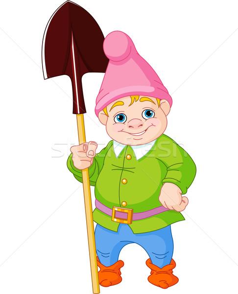 Garden Gnome with shovel Stock photo © Dazdraperma