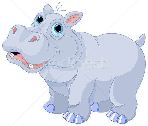 Stock photo: Mischievous hippo