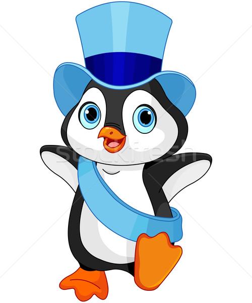 赤ちゃん ペンギン 実例 ダンス 鳥 ストックフォト © Dazdraperma