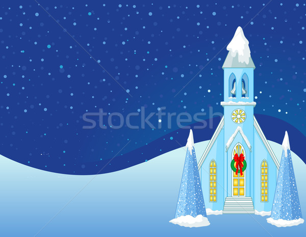 Winter Christmas scene  background Stock photo © Dazdraperma