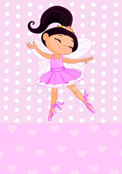 Kicsi hercegnő boldog rózsaszín gyermek háttér Stock fotó © Dazdraperma