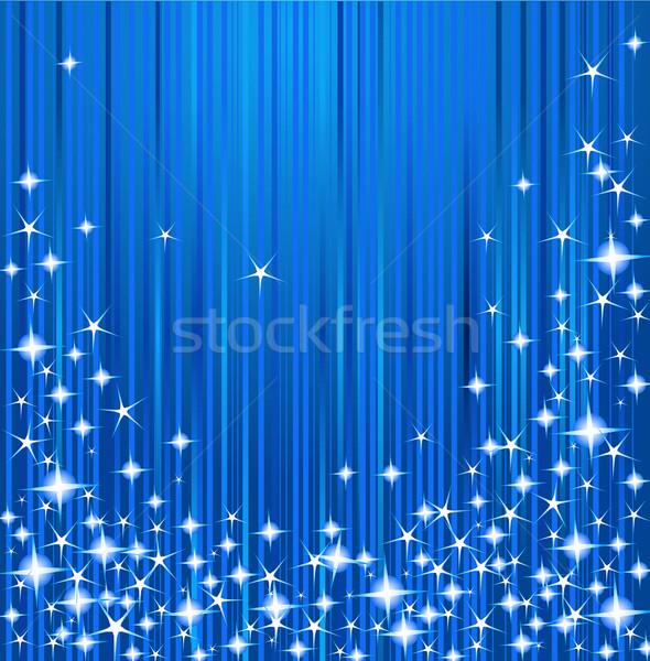 Рождества звезды синий аннотация искусства Сток-фото © Dazdraperma