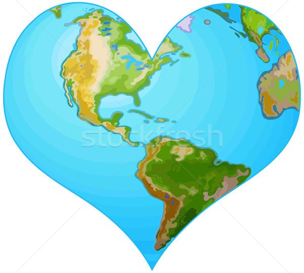 Earth heart Stock photo © Dazdraperma
