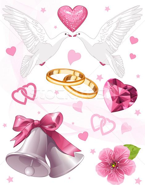 Wedding art Stock photo © Dazdraperma