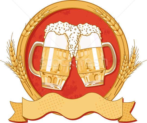 Oval beer label design Stock photo © Dazdraperma