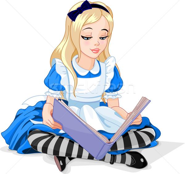 чтение книга страна чудес улыбка образование мечта Сток-фото © Dazdraperma