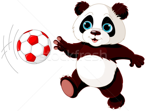 Panda hits the ball Stock photo © Dazdraperma