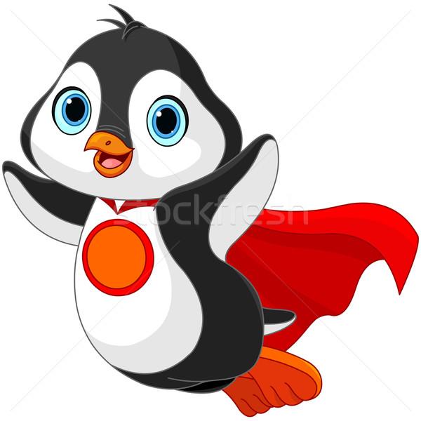 супер пингвин иллюстрация искусства птица Сток-фото © Dazdraperma