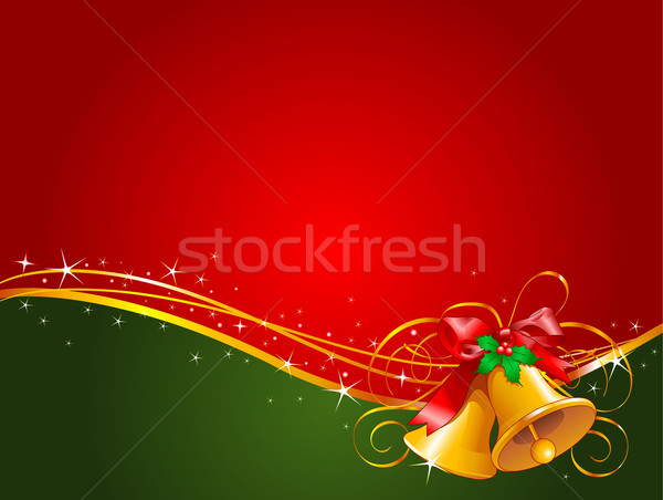Christmas bells  background Stock photo © Dazdraperma