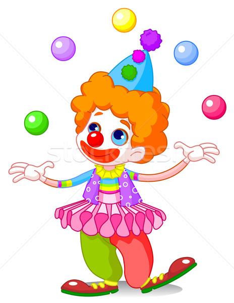 Juggling Clown  Stock photo © Dazdraperma