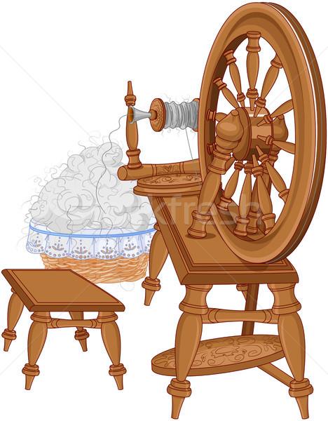 Shepherd Spinning Wheel and Chair  Stock photo © Dazdraperma