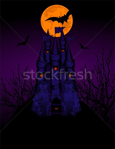 Haunted Castle invitation card Stock photo © Dazdraperma