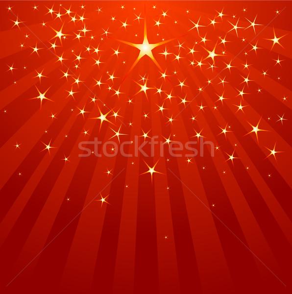 Natal estrela cadente céu estrelas inverno Foto stock © Dazdraperma