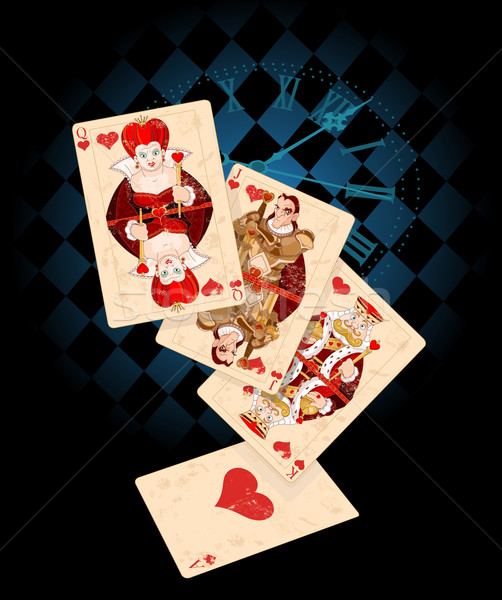 Background with Card Suits Stock photo © Dazdraperma