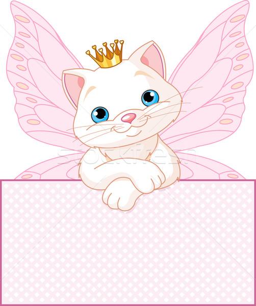 Prinses kat aanbiddelijk naar verjaardag Stockfoto © Dazdraperma