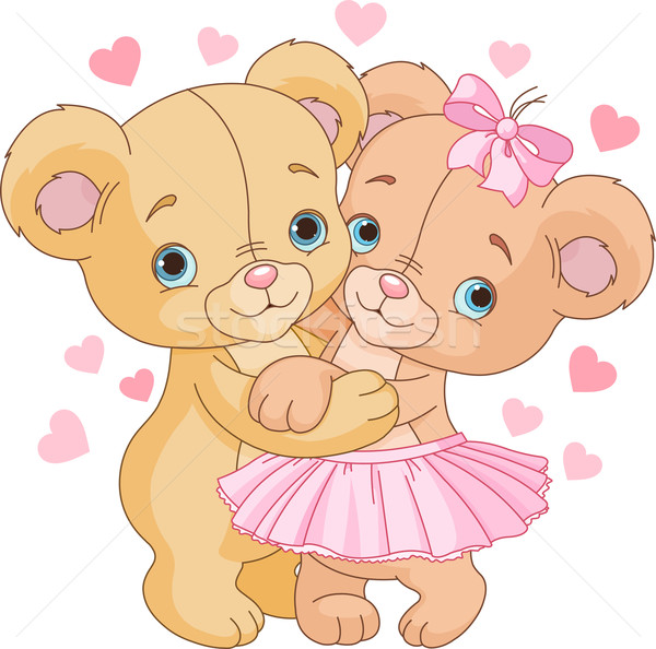 Teddy bears in love Stock photo © Dazdraperma