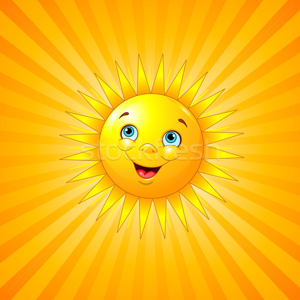 Smiling sun Stock photo © Dazdraperma