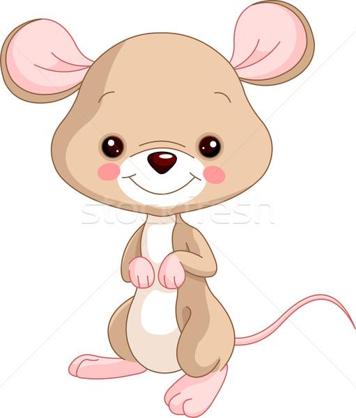 Animales de granja ratones ilustración cute feliz jóvenes Foto stock © Dazdraperma