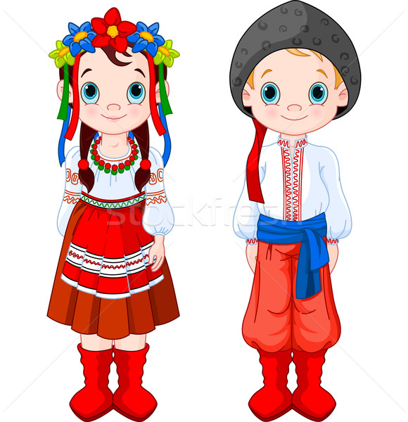 Ukrainian Boy and Girl Stock photo © Dazdraperma