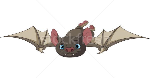 Halloween bat vlucht illustratie cute cartoon Stockfoto © Dazdraperma