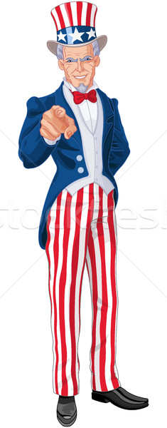 Oom groot illustratie vlag star retro Stockfoto © Dazdraperma