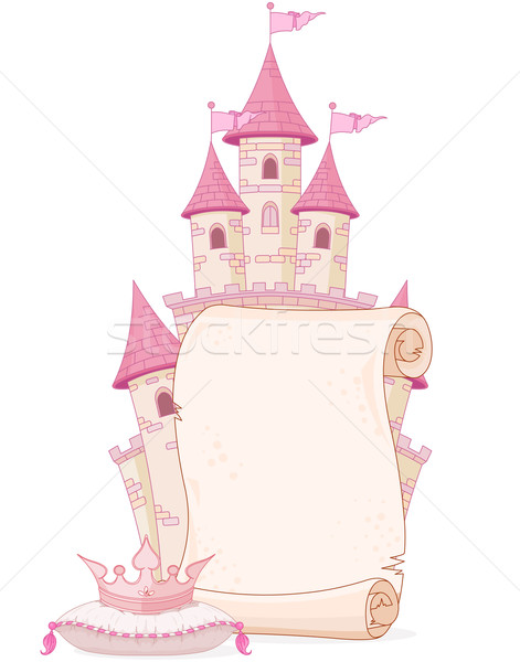 Fairy tale theme parchment Stock photo © Dazdraperma