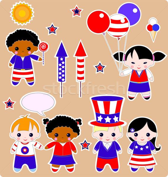 Fourth of July Children  Stock photo © Dazdraperma