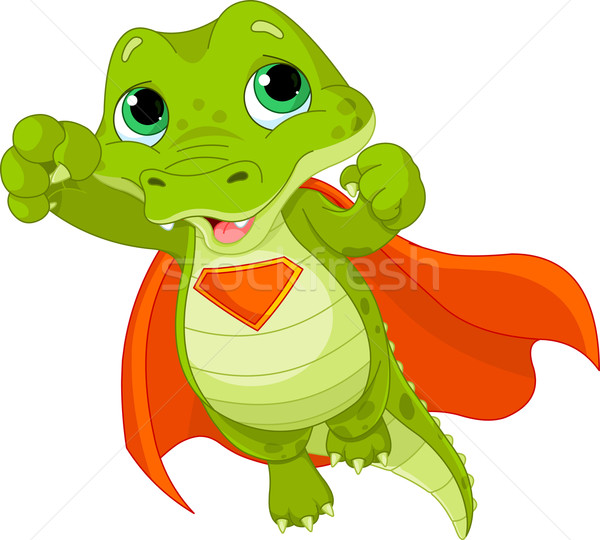 Wspaniały aligator ilustracja baby sztuki Zdjęcia stock © Dazdraperma