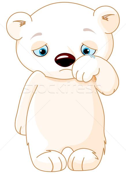 悲しい シロクマ 実例 子供 泣く カード ストックフォト © Dazdraperma