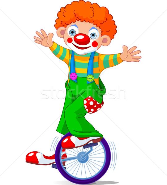 Clown on Unicycle Stock photo © Dazdraperma
