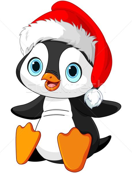 Christmas pinguin illustratie cute baby kunst Stockfoto © Dazdraperma