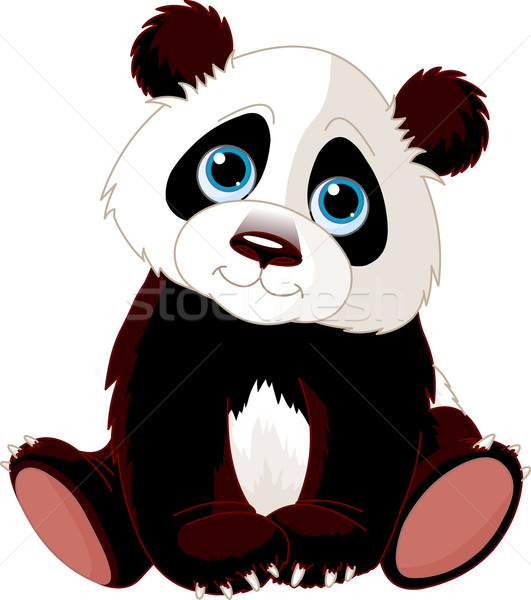 Sitting Panda Stock photo © Dazdraperma