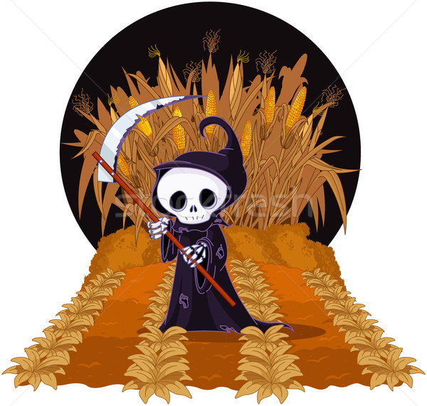 Grim Reaper on Corn Maze  Stock photo © Dazdraperma