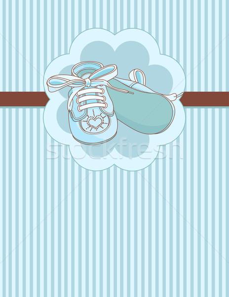 Blauw plaats kaart baby Stockfoto © Dazdraperma