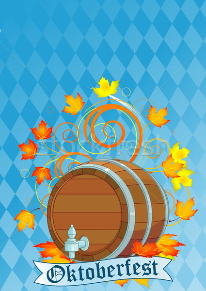 Oktoberfest design with keg Stock photo © Dazdraperma