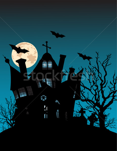 Spooky haunted house Stock photo © Dazdraperma