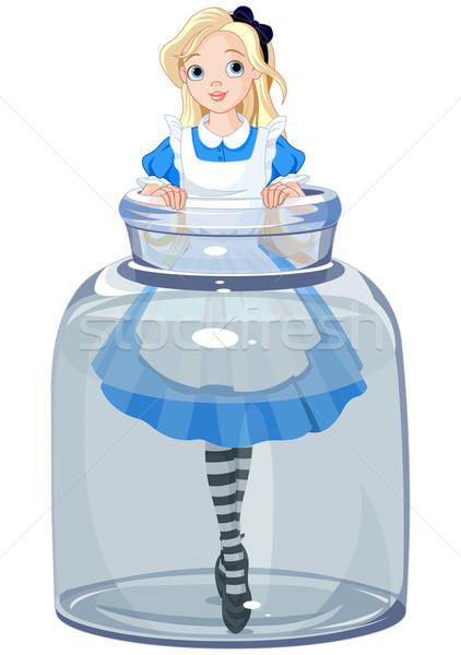 Alice in the jar Stock photo © Dazdraperma