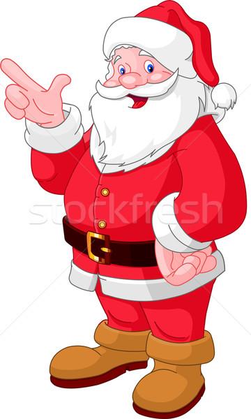 Christmas Santa pointing Stock photo © Dazdraperma